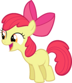 Castle Creator Apple Bloom smiles