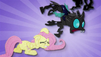 Changeling trips over Fluttershy BFHHS1