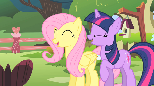 File:Fluttershy and Twilight laughing S01E17.png