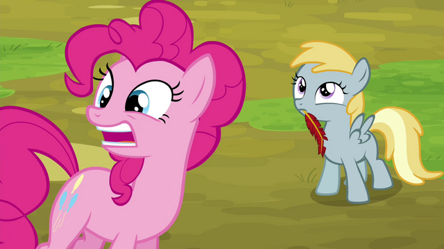 "File:Pinkie Pie stretches ""reeeeaaaally"" S4E22.png"
