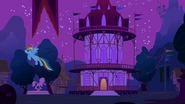 Rainbow Dash chasing Nightmare Moon S1E02