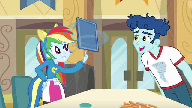 File:Rainbow Dash spins tray on finger EG.png