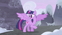 Twilight happy that her cutie mark is back S5E2