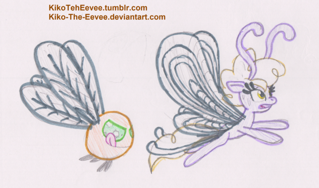 File:FANMADE Parasprite and Breezie.png