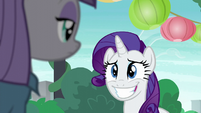 Rarity grinning awkwardly S6E3