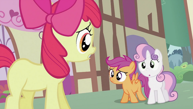 File:Apple Bloom apologizing to Scootaloo and Sweetie Belle S2E06.png