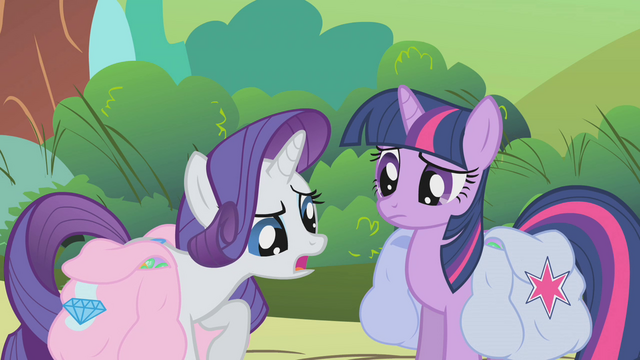 "File:Twilight and Rarity ""we're having the same problem"" S1E10.png"