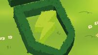 Hedge shaped like Wonderbolts insignia S4E21