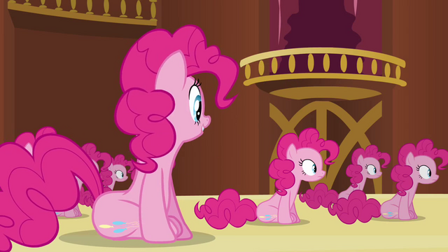 File:Pinkie Pie clone 'Watch me bounce and touch the ceiling' S3E3.png