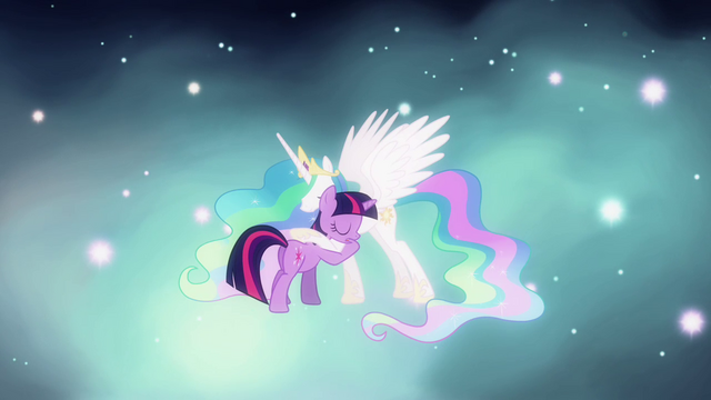 File:Twilight hugging Celestia S03E13.png