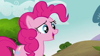 Pinkie Pie correcting her duplicate on Fluttershy's name S3E03