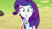 Rarity looking out at the water shocked EG4