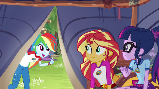 File:Rainbow Dash calling Sunset and Twilight EG4.png
