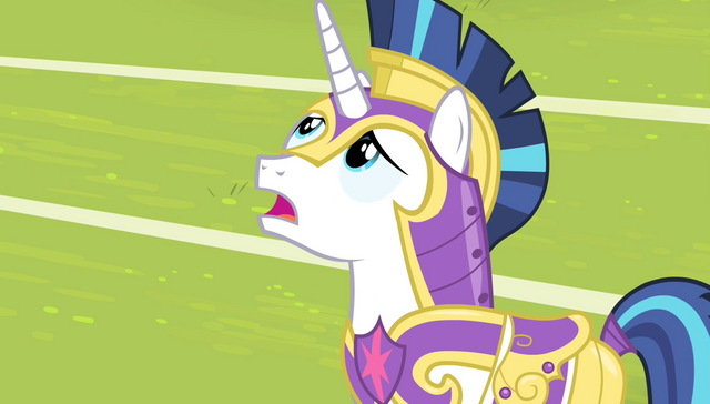 "File:Shining Armor ""cut the disabling spell!"" S4E24.png"
