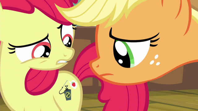 File:Applejack looks at Apple Bloom's cutie mark S5E04.png