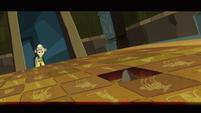 Rock triggering trap in temple S2E16