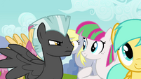 Thunderlane glaring at Blossomforth S2E22