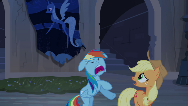 "File:Rainbow Dash and Applejack ""run!"" S4E03.png"