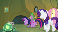 The mane cast leaving the critters' home S3E03
