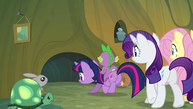 File:The mane cast leaving the critters' home S3E03.png