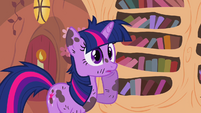 Twilight with hoof to her cheek S2E20
