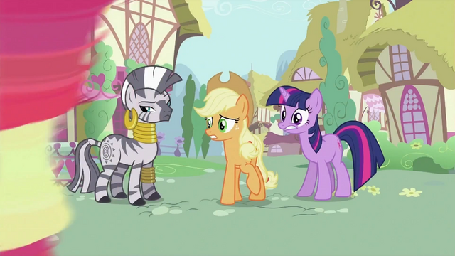 File:Zecora, Applejack and Twilight S2E06.png