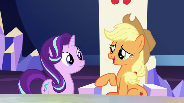 "File:Applejack ""somethin' to do with the new baby"" S6E1.png"