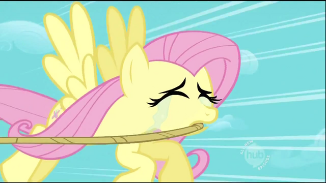File:Fluttershy nearly sobbing S2E02.png