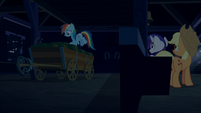 Rainbow Dash picks up box of cookies S6E15