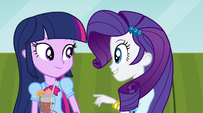 "Twilight and Rarity ""so much catching up to do"" EG2"
