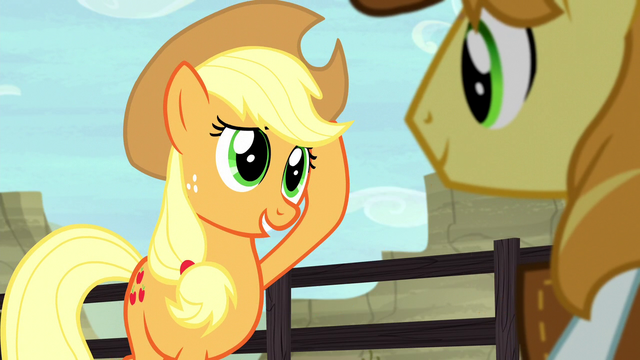 "File:Applejack ""doin' my best to fill your horseshoes"" S5E6.png"