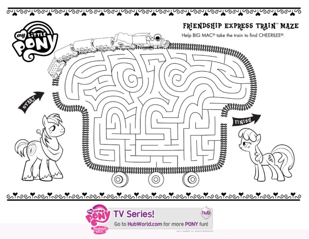 File:Hubworld.com Friendship Express Train Maze printable.png