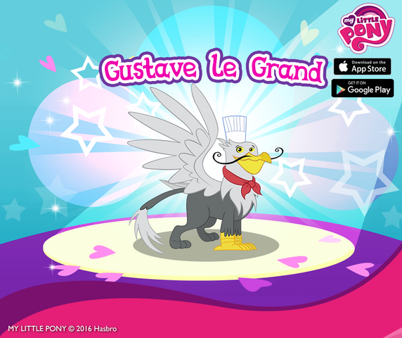 File:MLP mobile game Gustave le Grand promo.png