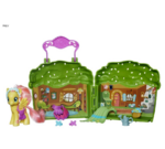Explore Equestria Fluttershy Cottage playset open
