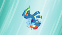 Rainbow Dash falling through the air S6E7
