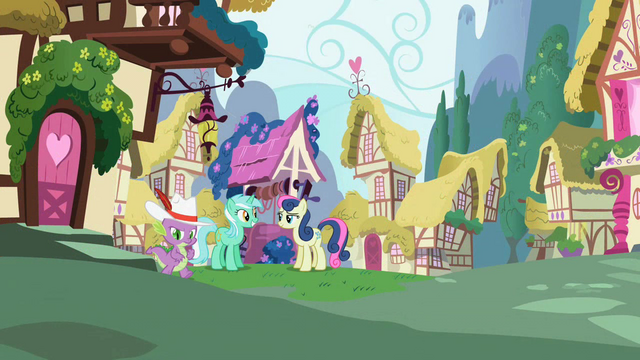 File:Lyra Heartstrings and Sweetie Drops next to the well S2E10.png