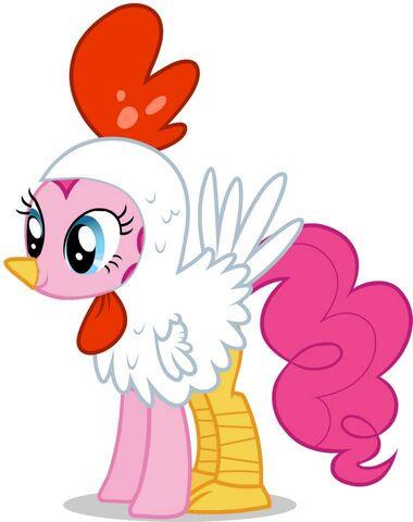 File:Promotional Facebook Halloween 2011 Pinkie Pie chicken.jpg