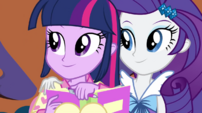 Twilight and Rarity hear the doorbell EG2