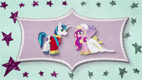 Felt burst effect of Shining Armor and Cadance BFHHS1