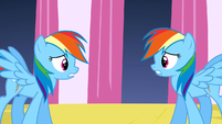 Rainbow Dash worried with changeling S2E26