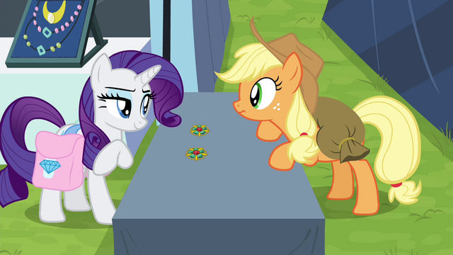 "File:Rarity ""how can you tell?"" S4E22.png"