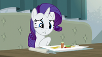 Rarity doesn't like the food's taste S6E12
