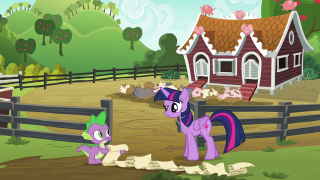 File:Twilight Sparkle and Spike puzzled S6E10.png