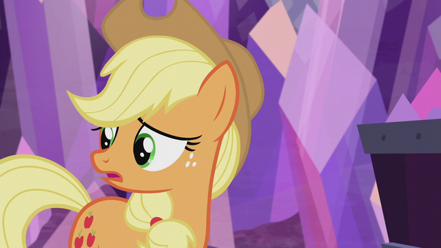 "File:Applejack ""I sure hope everypony else"" S5E20.png"