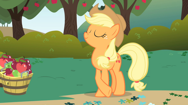 File:Applejack being ladylike S1E01.png