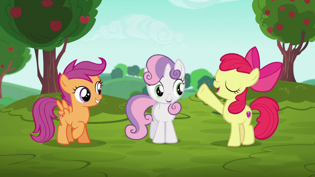 "File:Apple Bloom ""CMCs behind the wheels!"" S6E14.png"