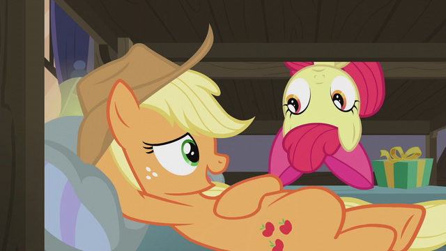 "File:Applejack ""it wouldn't surprise me in the least"" S5E20.png"