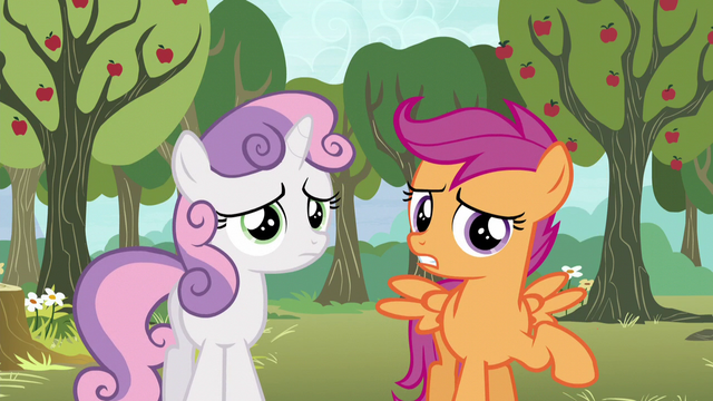 "File:Scootaloo ""we both sort of got our cutie marks"" S5E4.png"