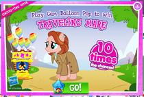Traveling Mare promotion MLP mobile game
