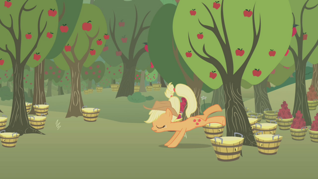 File:Applejack misses another tree S1E04.png